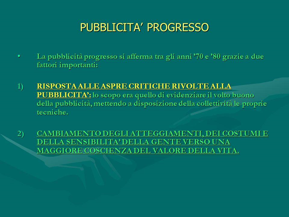 PUBBLICITA' PROGRESSO