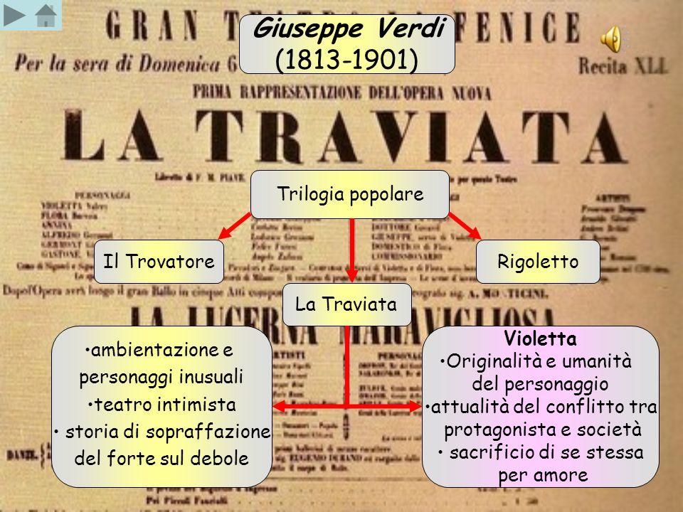 Giuseppe Verdi (1813-1901) Trilogia popolare Il Trovatore Rigoletto