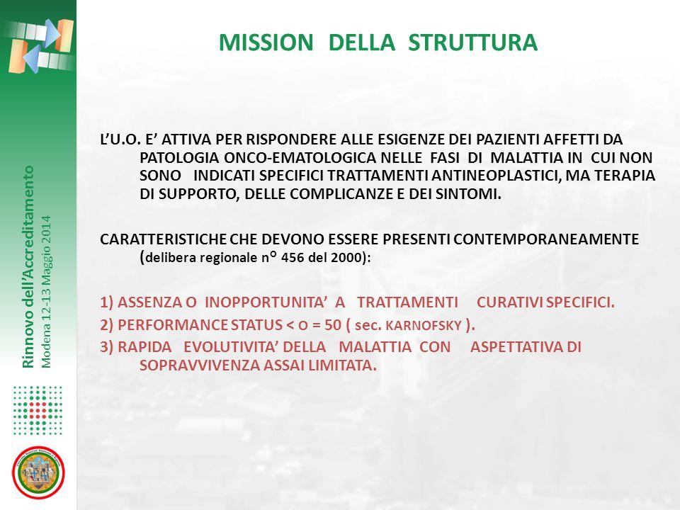 MISSION DELLA STRUTTURA