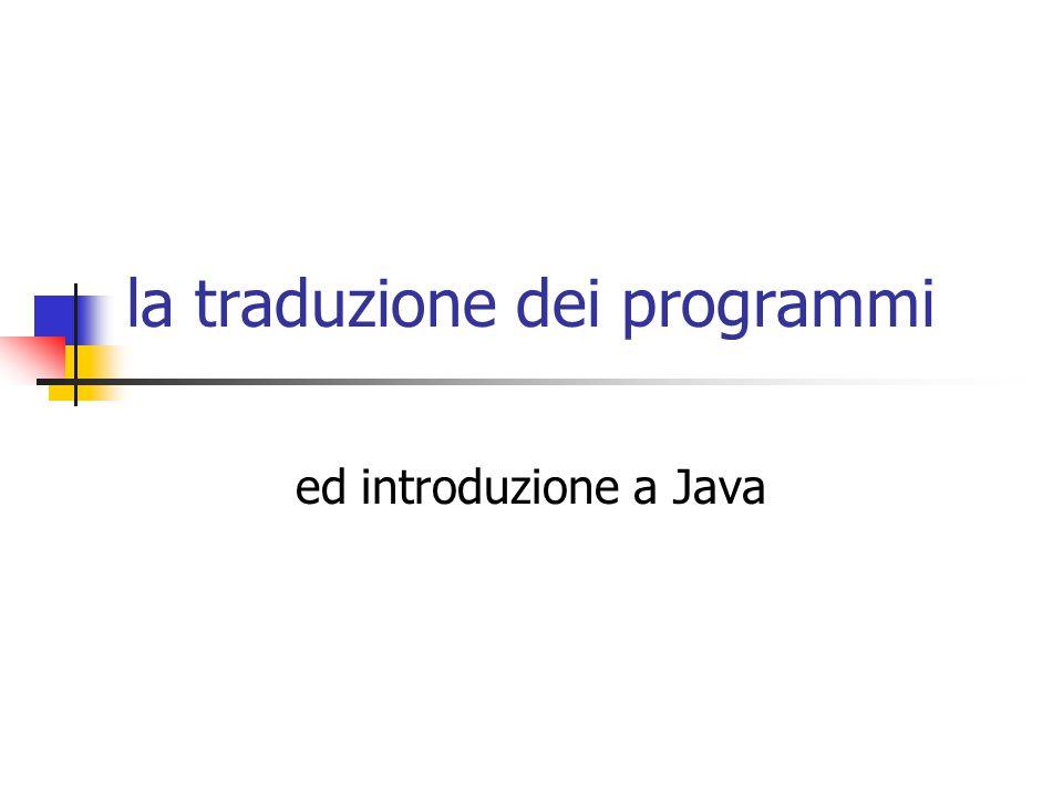 la traduzione dei programmi