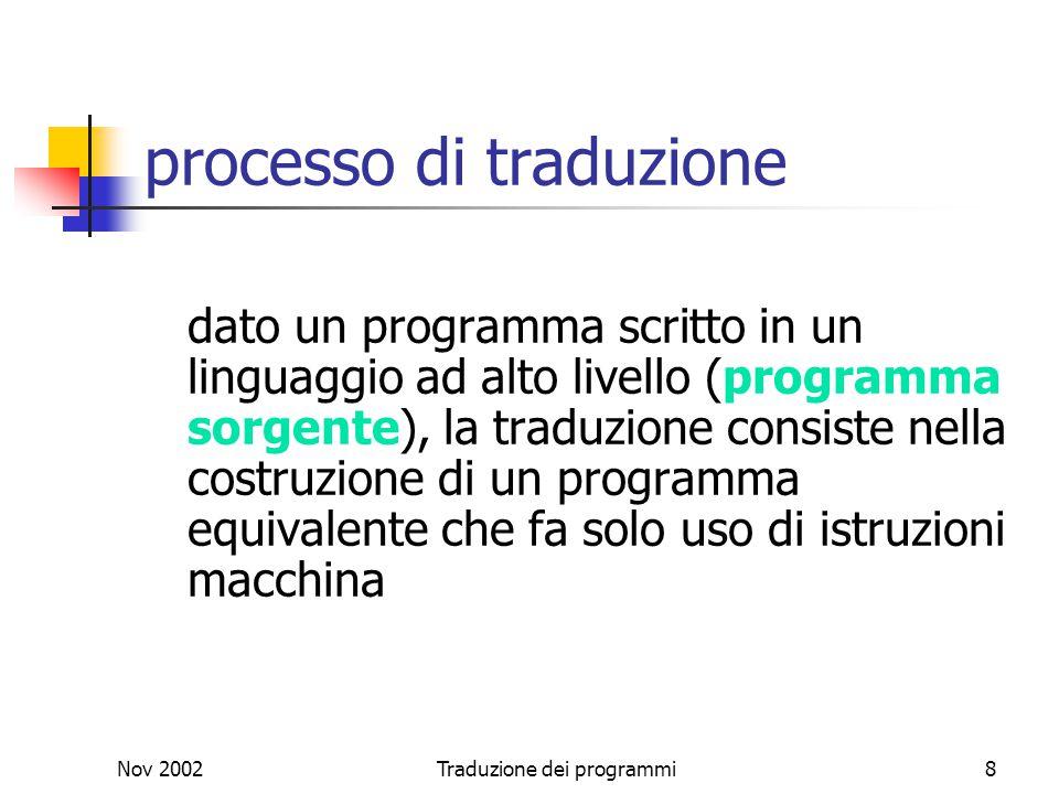 processo di traduzione