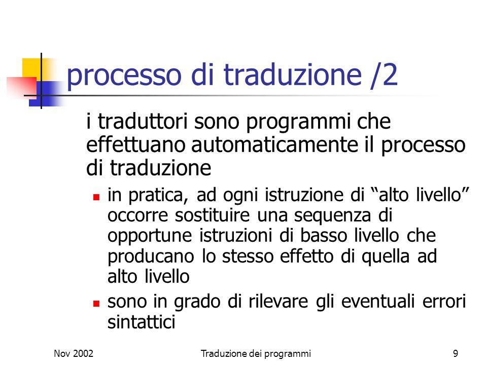 processo di traduzione /2