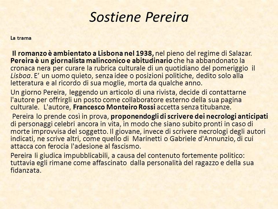 Sostiene Pereira La trama.