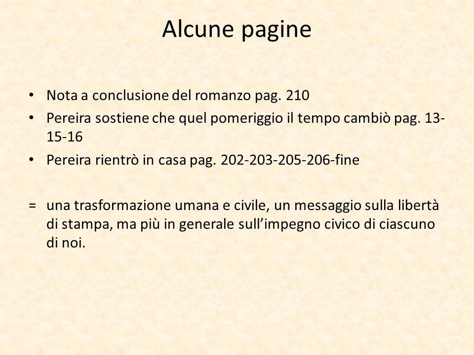 Alcune pagine Nota a conclusione del romanzo pag. 210