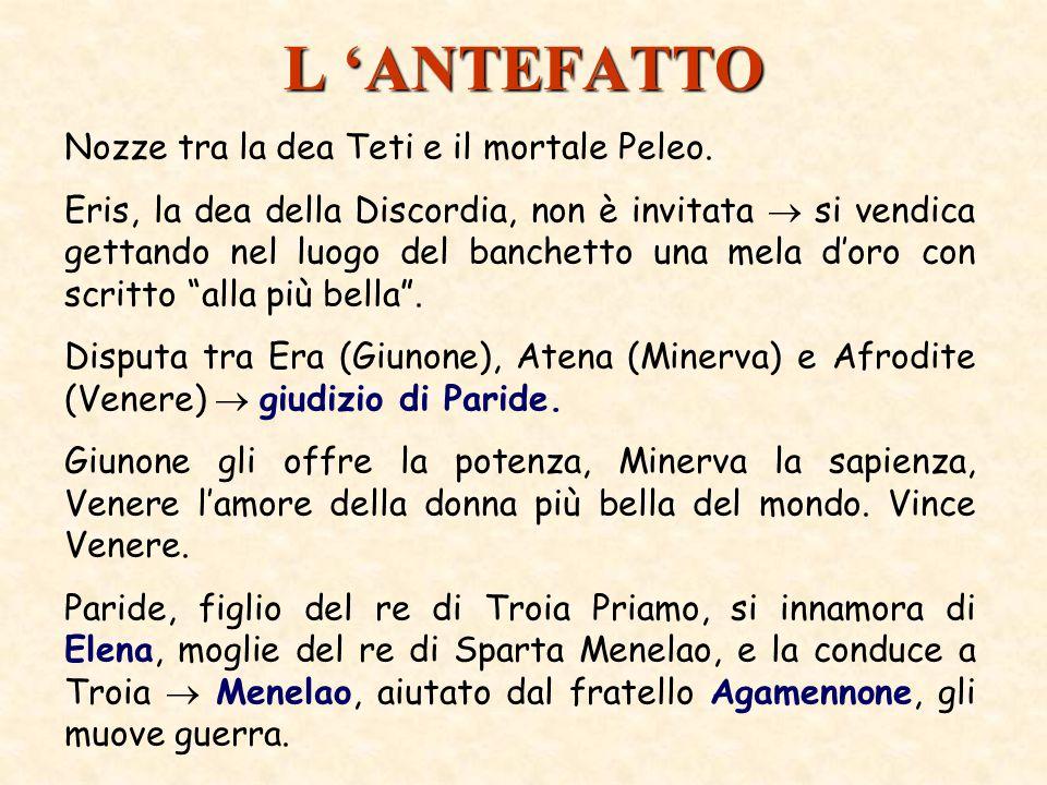 L 'ANTEFATTO Nozze tra la dea Teti e il mortale Peleo.
