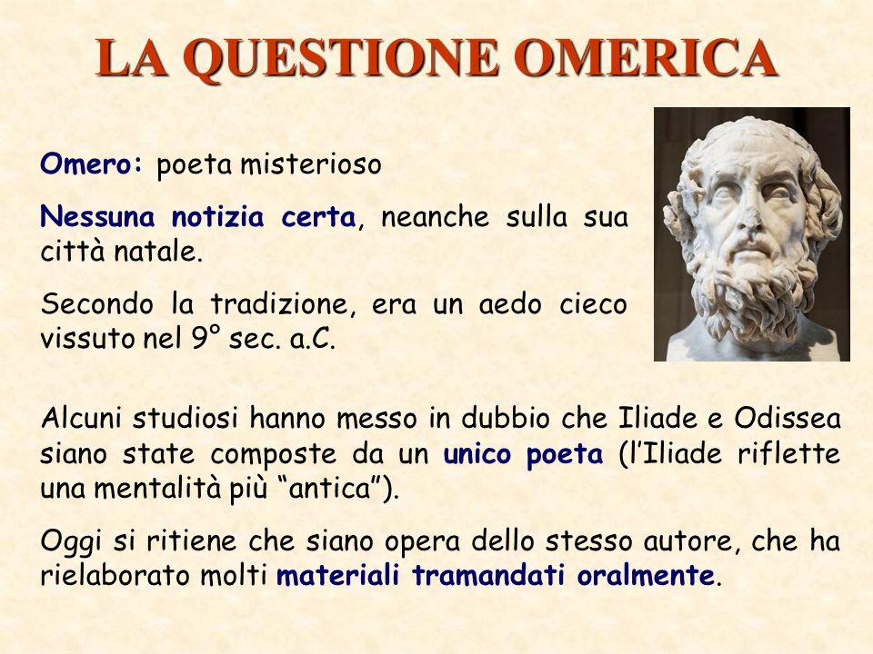 LA QUESTIONE OMERICA Omero: poeta misterioso