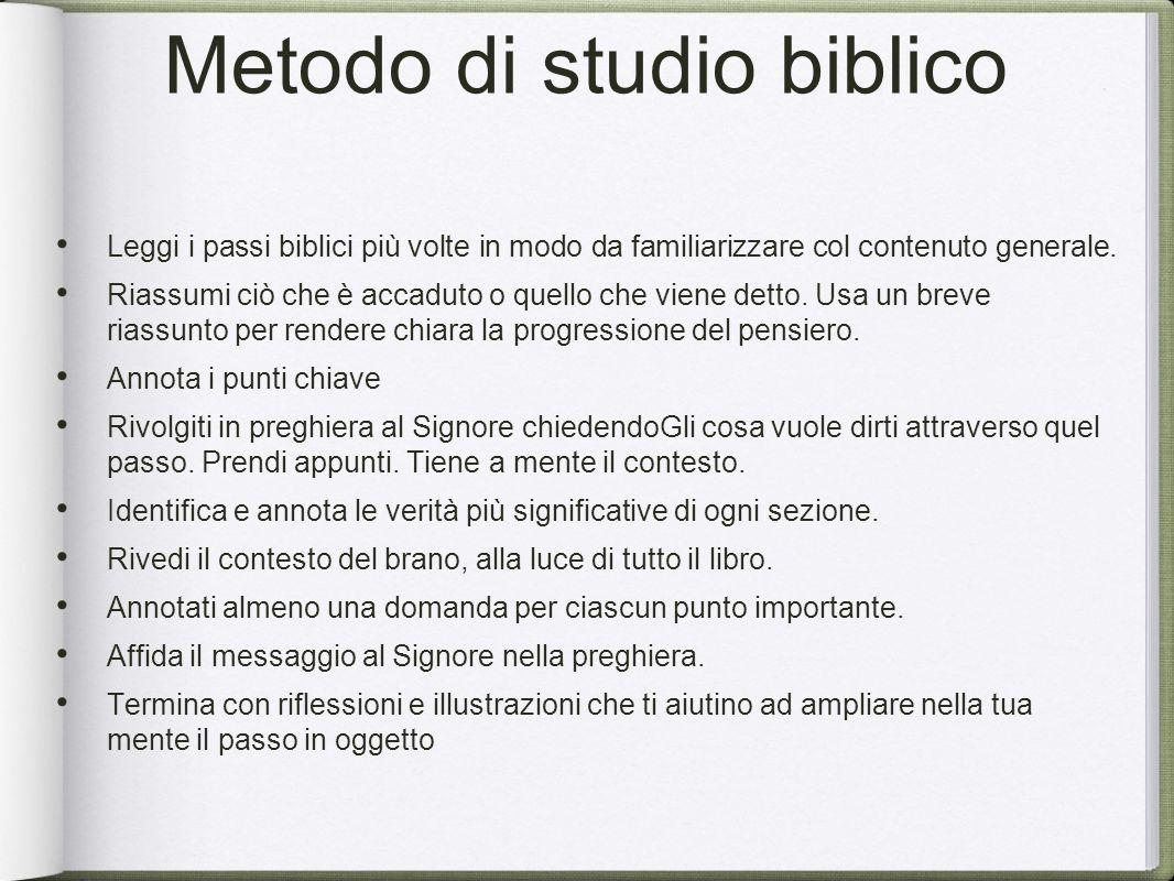 Metodo di studio biblico