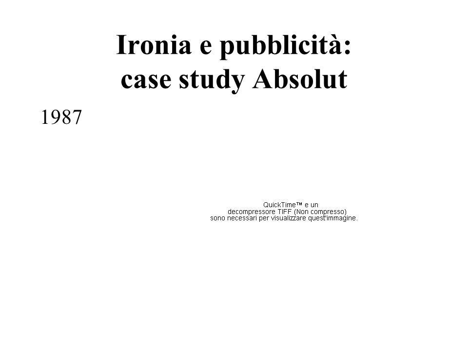 Ironia e pubblicità: case study Absolut