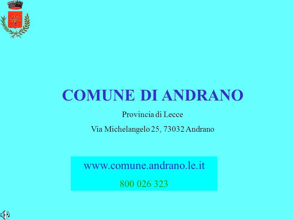 Via Michelangelo 25, 73032 Andrano