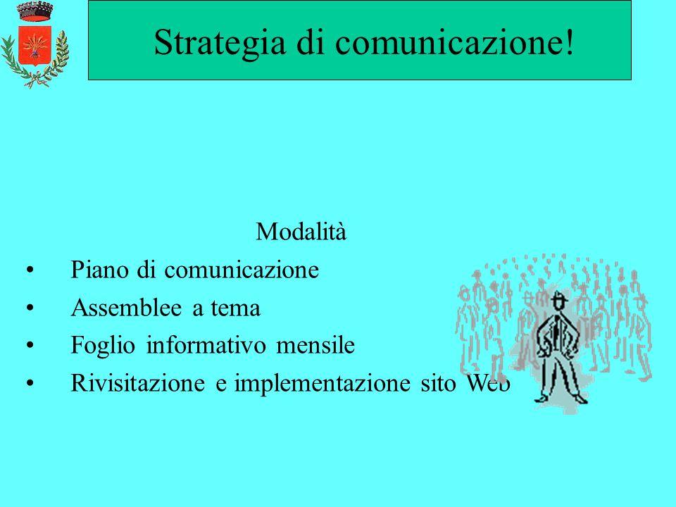 Strategia di comunicazione!