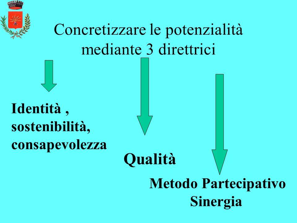 Concretizzare le potenzialità mediante 3 direttrici