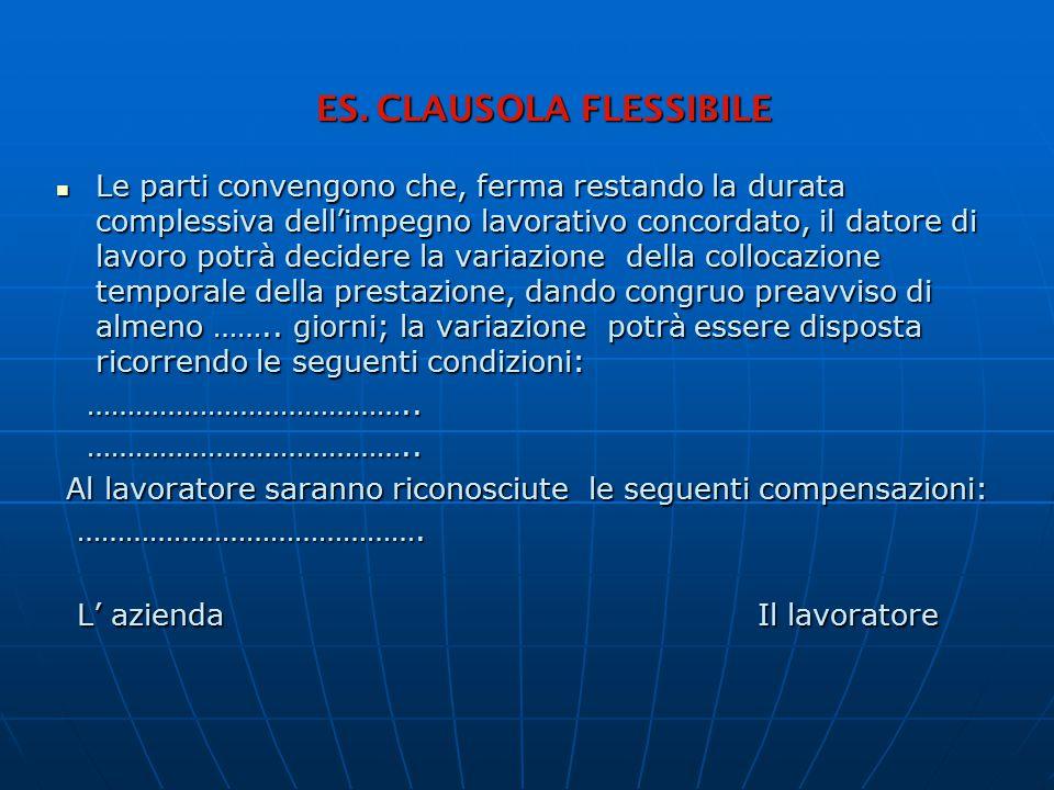 ES. CLAUSOLA FLESSIBILE