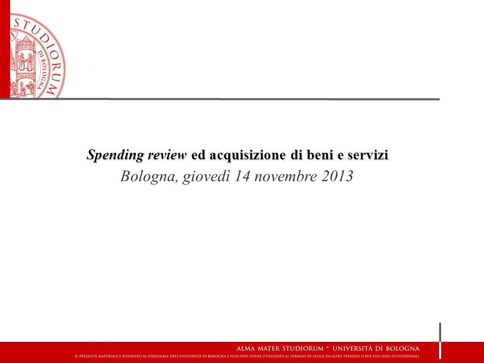 Spending review ed acquisizione di beni e servizi