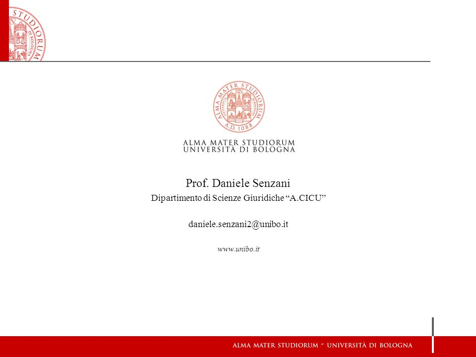 Dipartimento di Scienze Giuridiche A.CICU