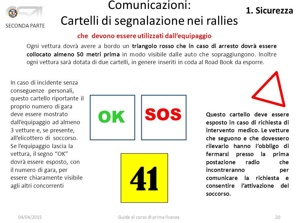 SOS OK Comunicazioni: Cartelli di segnalazione nei rallies