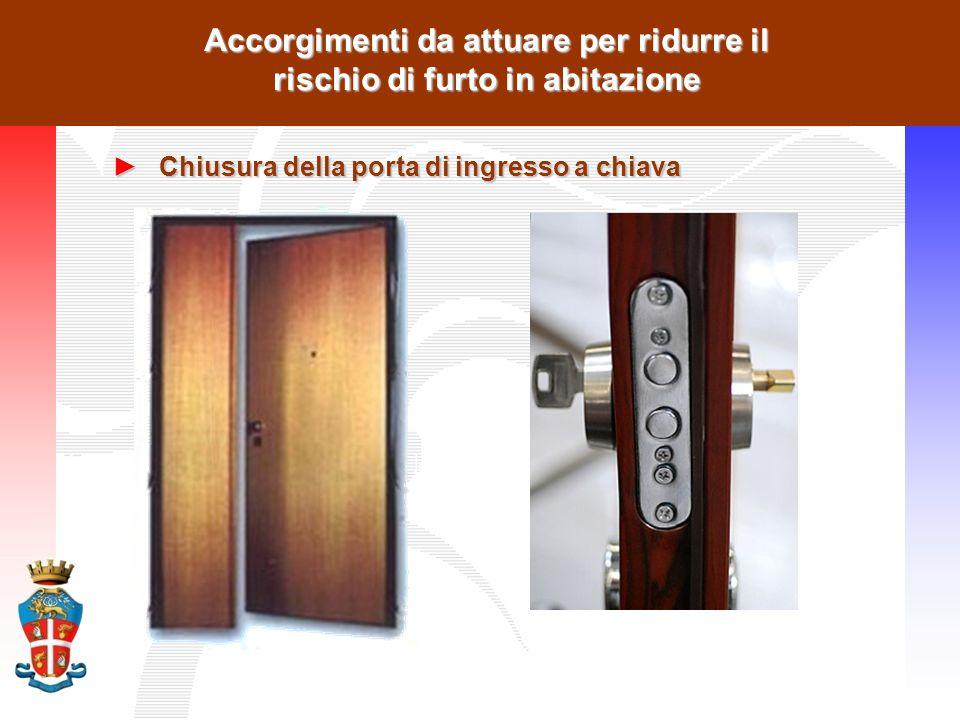 Accorgimenti da attuare per ridurre il rischio di furto in abitazione