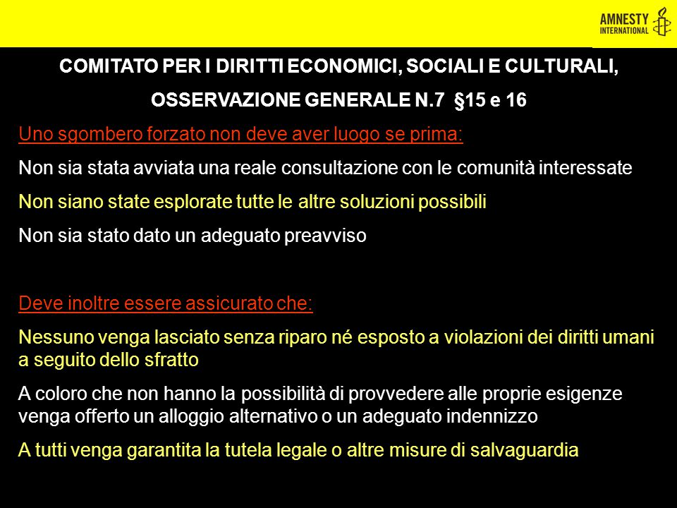 COMITATO PER I DIRITTI ECONOMICI, SOCIALI E CULTURALI,