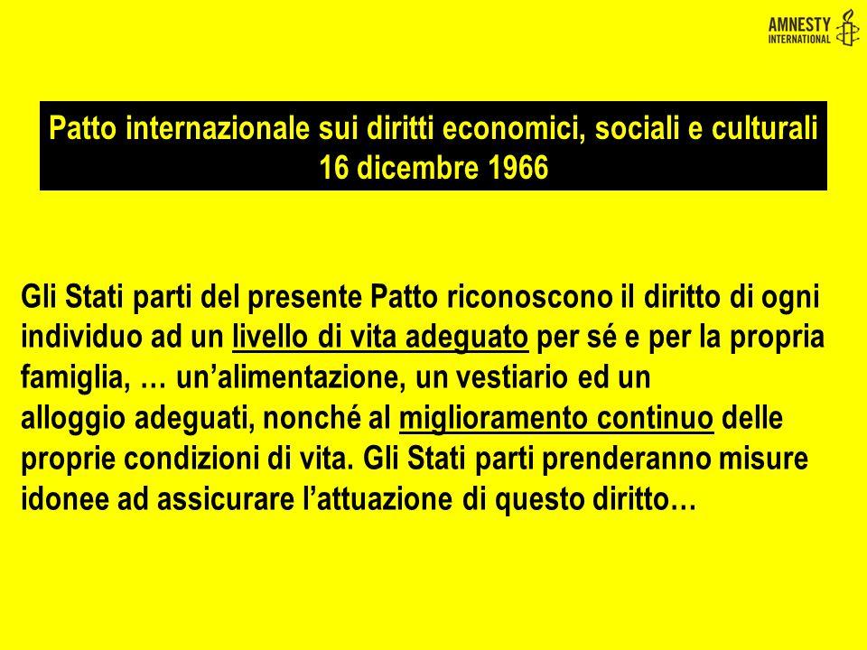 Patto internazionale sui diritti economici, sociali e culturali