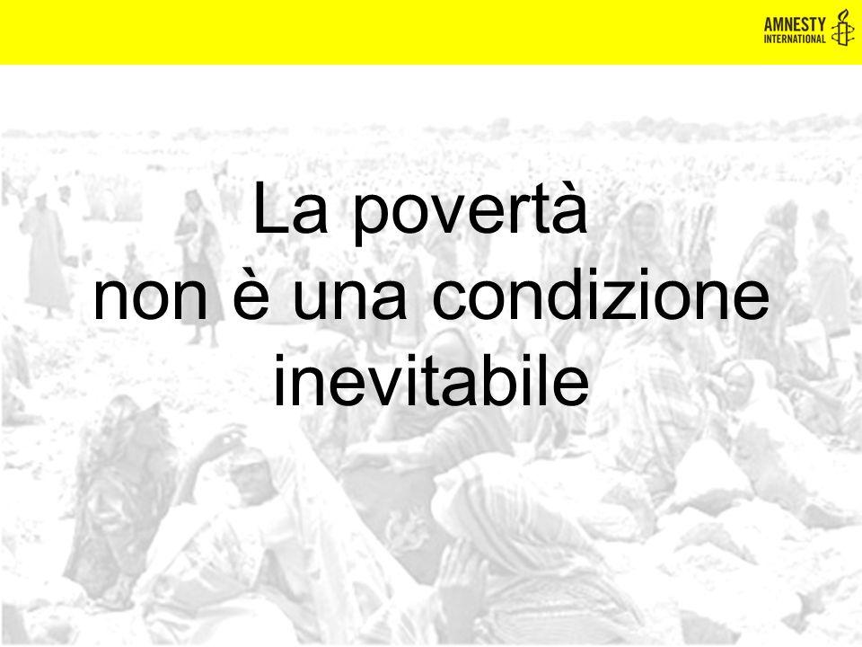 La povertà non è una condizione inevitabile