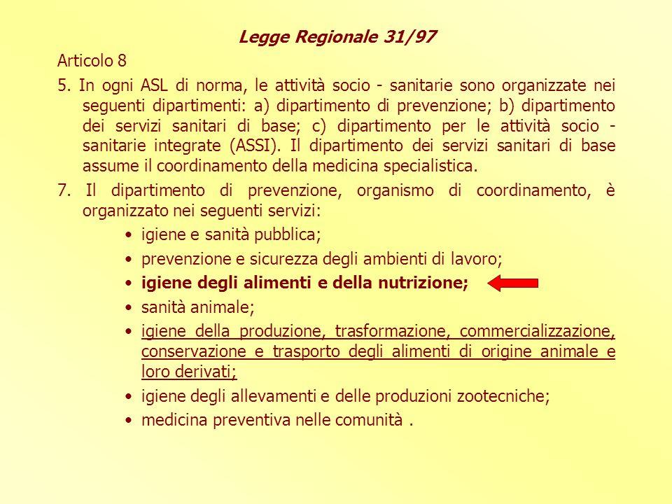 Legge Regionale 31/97 Articolo 8.