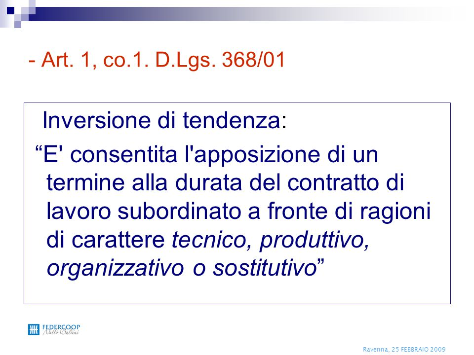 Inversione di tendenza: