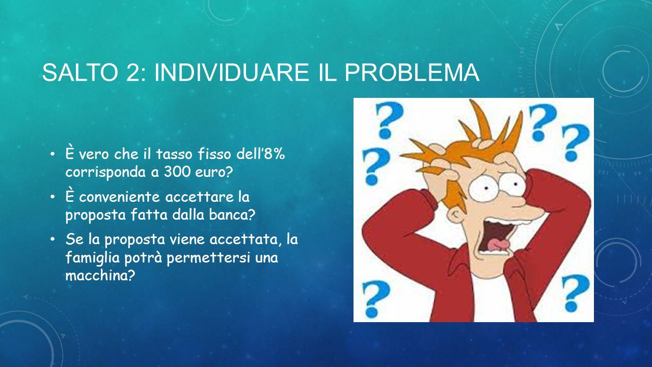 SALTO 2: Individuare il problema