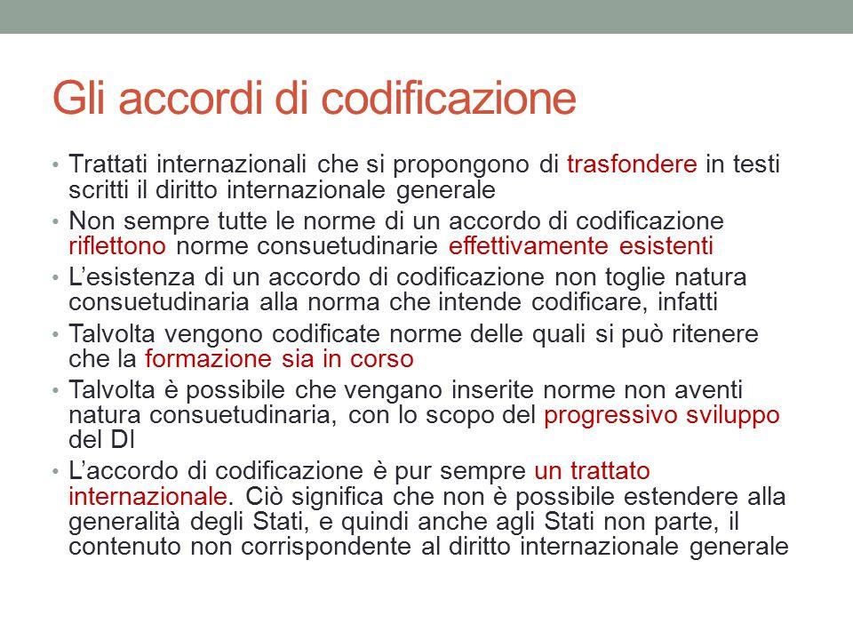 Gli accordi di codificazione