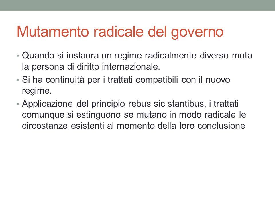 Mutamento radicale del governo