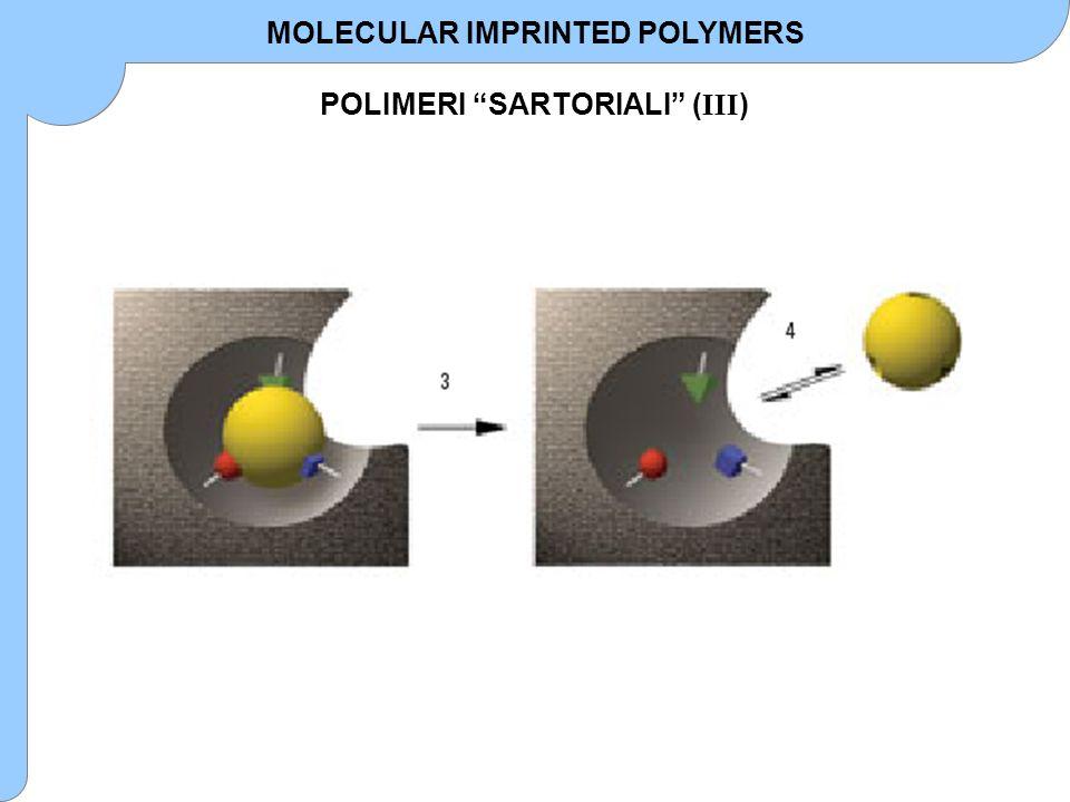 MOLECULAR IMPRINTED POLYMERS POLIMERI SARTORIALI (III)