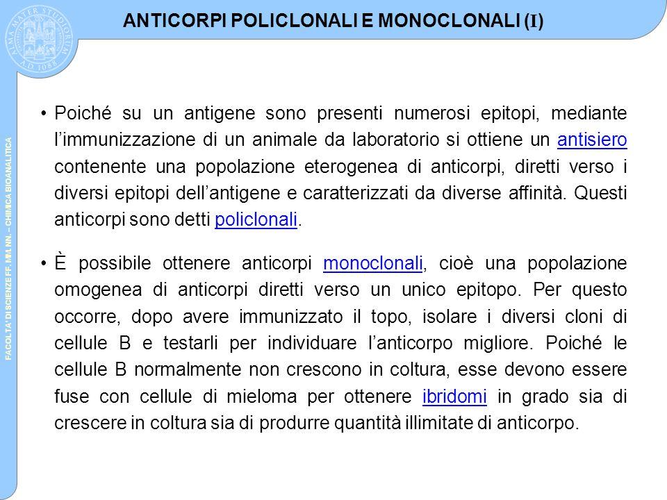 ANTICORPI POLICLONALI E MONOCLONALI (I)