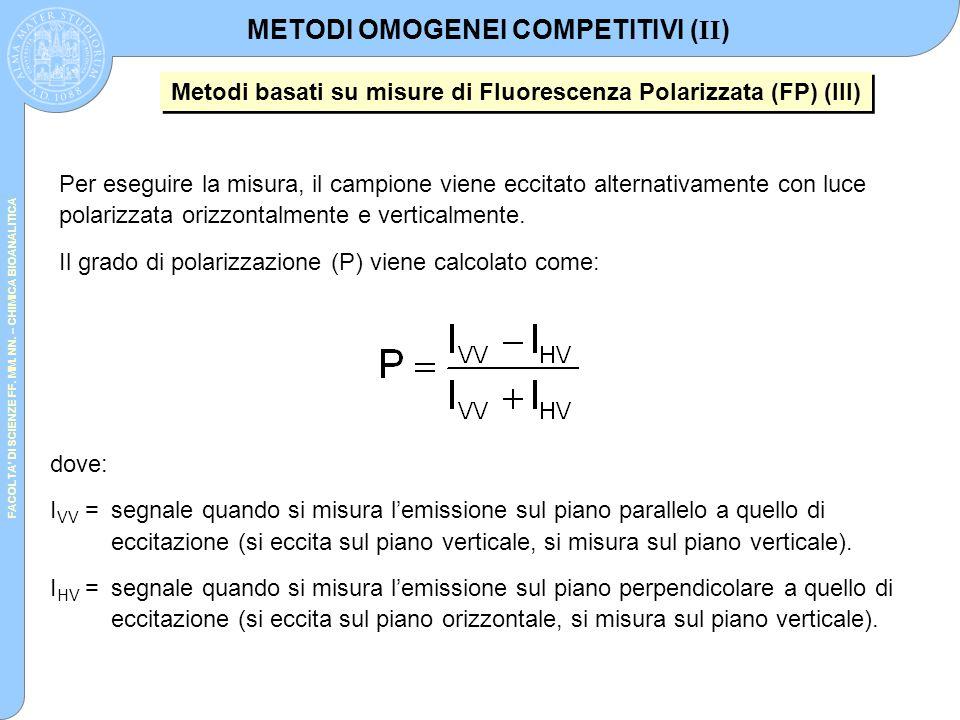 METODI OMOGENEI COMPETITIVI (II)