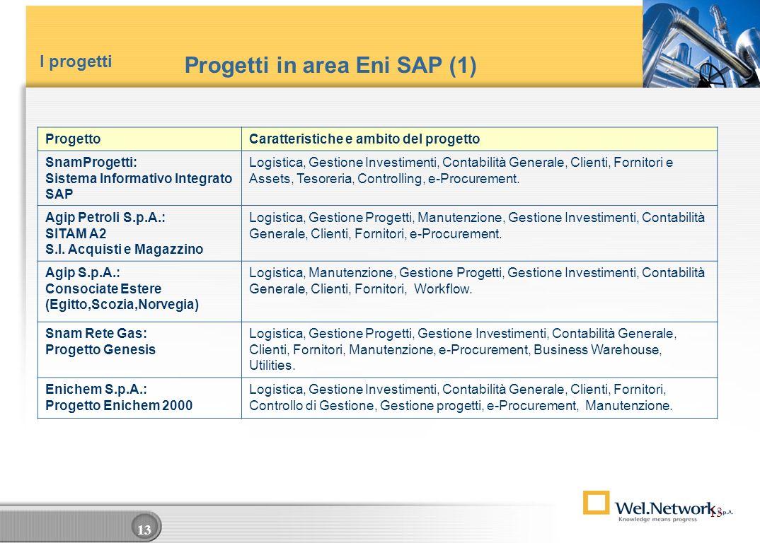 Progetti in area Eni SAP (1)