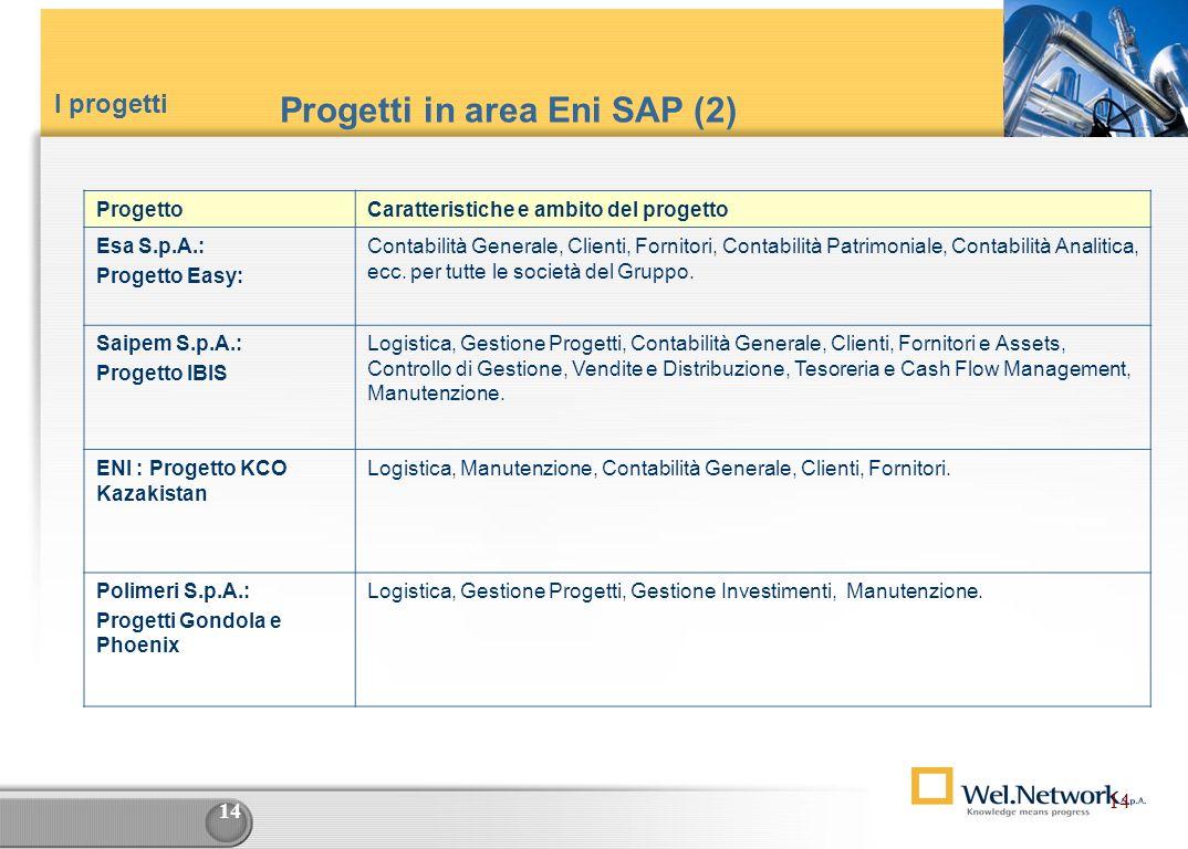 Progetti in area Eni SAP (2)