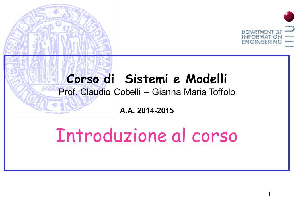 Corso di Sistemi e Modelli