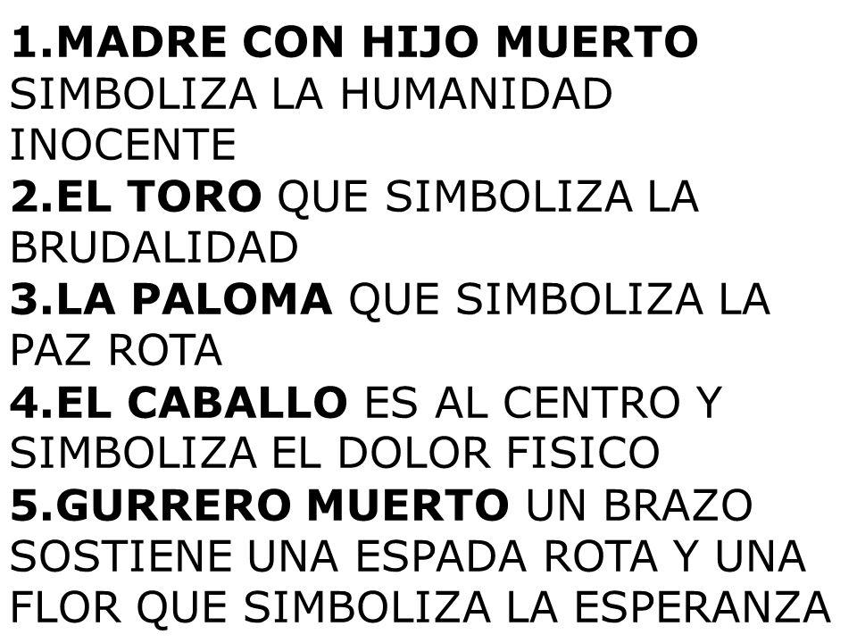 MADRE CON HIJO MUERTO SIMBOLIZA LA HUMANIDAD INOCENTE