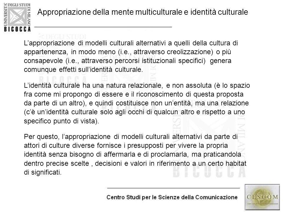 Appropriazione della mente multiculturale e identità culturale