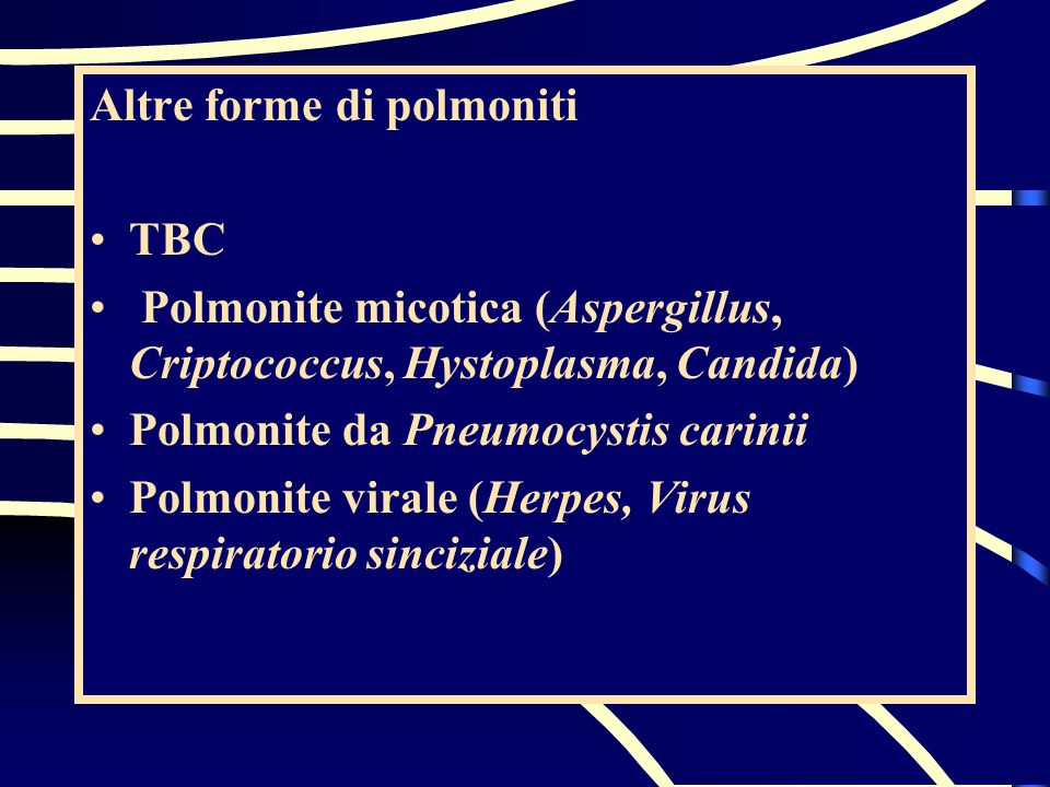 Altre forme di polmoniti