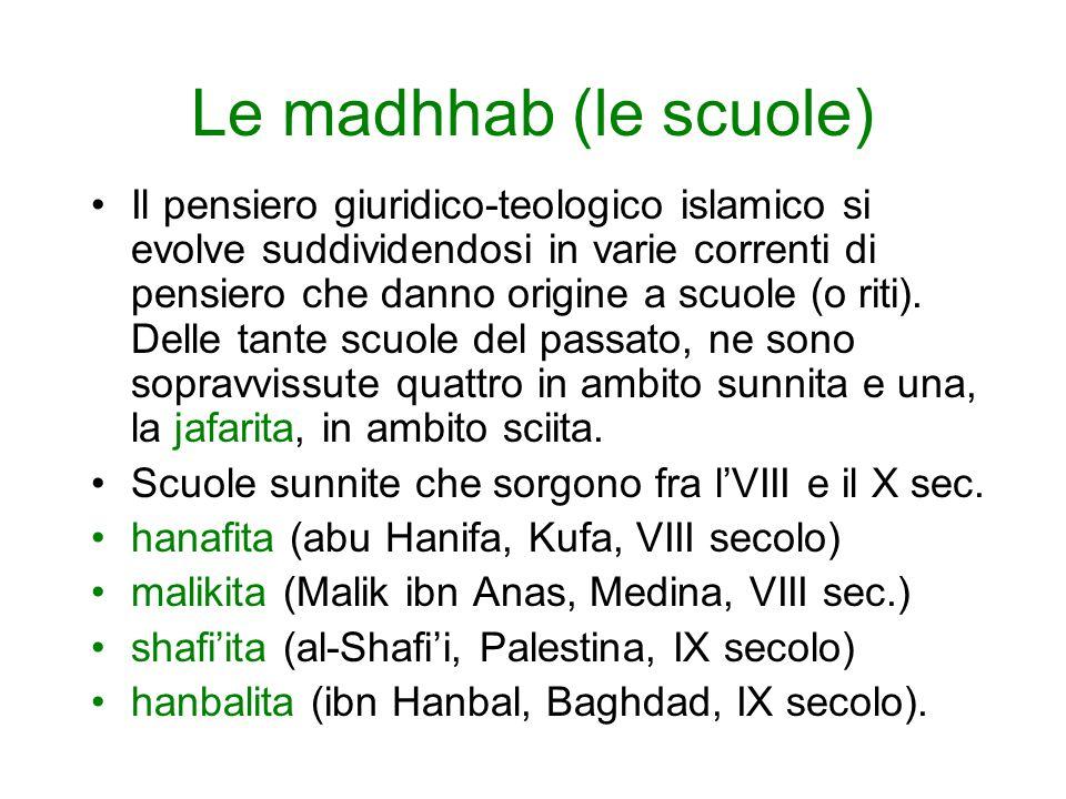 Le madhhab (le scuole)