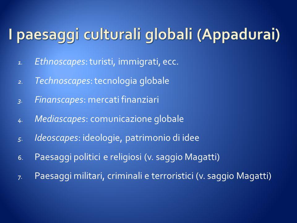 I paesaggi culturali globali (Appadurai)