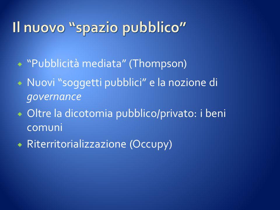 Il nuovo spazio pubblico