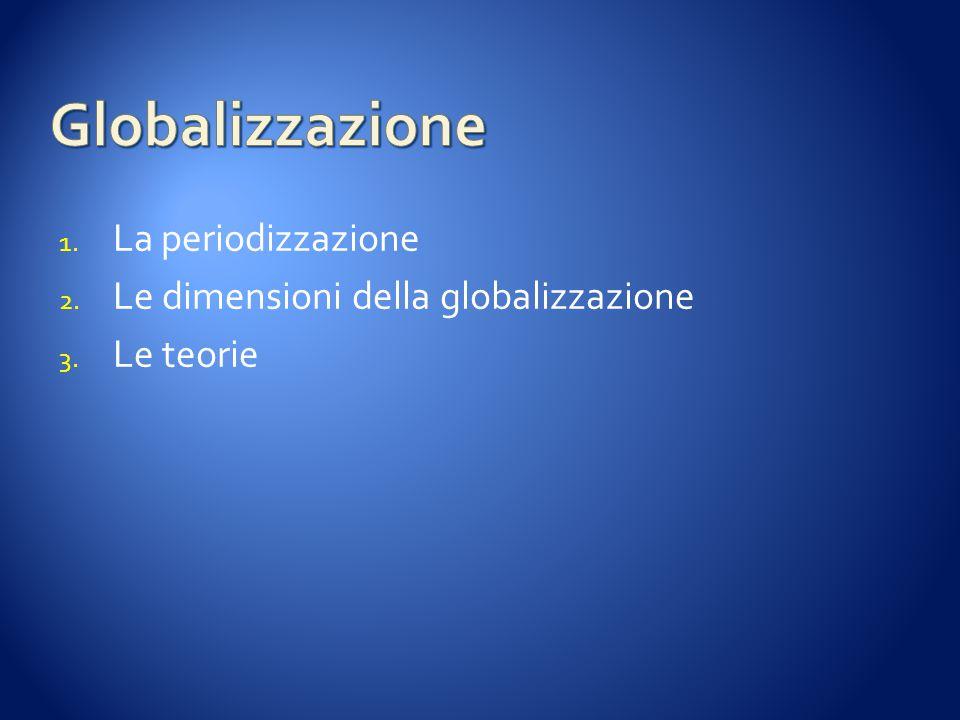 Globalizzazione La periodizzazione Le dimensioni della globalizzazione