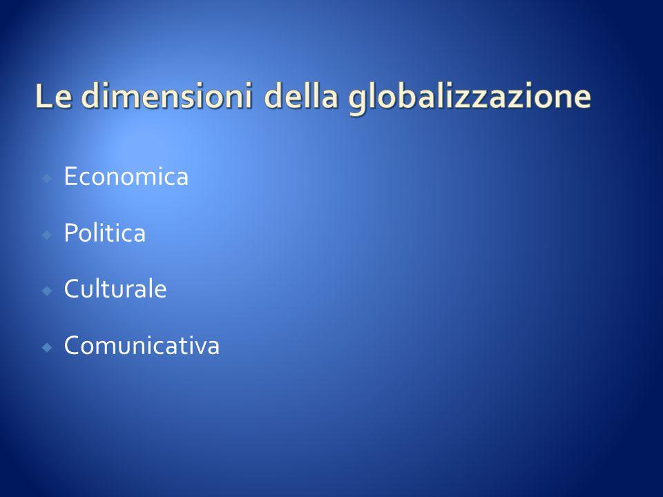 Le dimensioni della globalizzazione