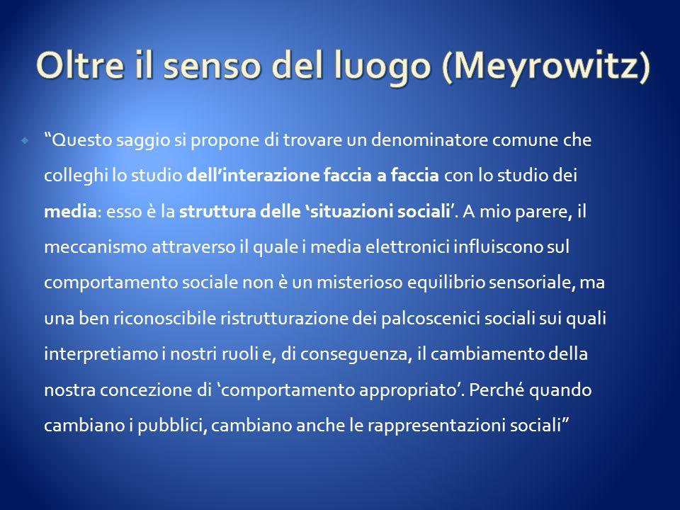 Oltre il senso del luogo (Meyrowitz)