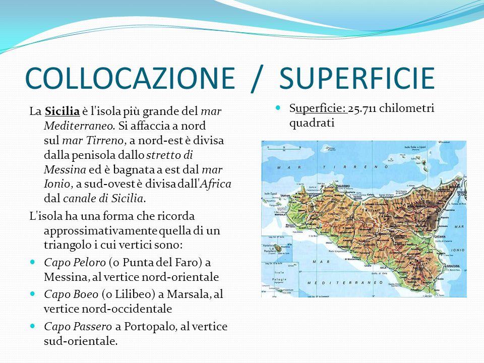 COLLOCAZIONE / SUPERFICIE