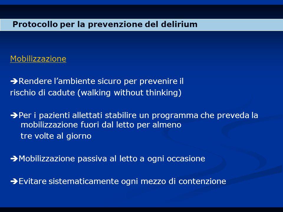 Protocollo per la prevenzione del delirium
