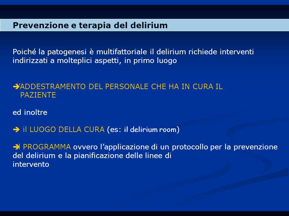 Prevenzione e terapia del delirium