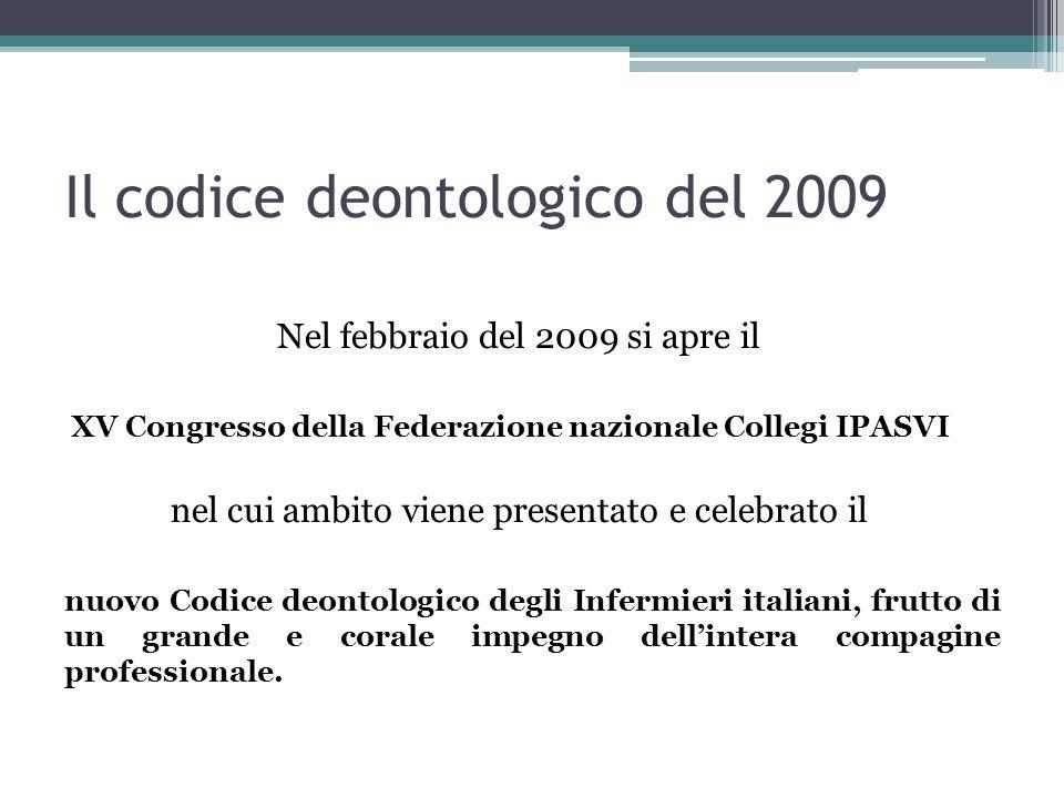 Il codice deontologico del 2009