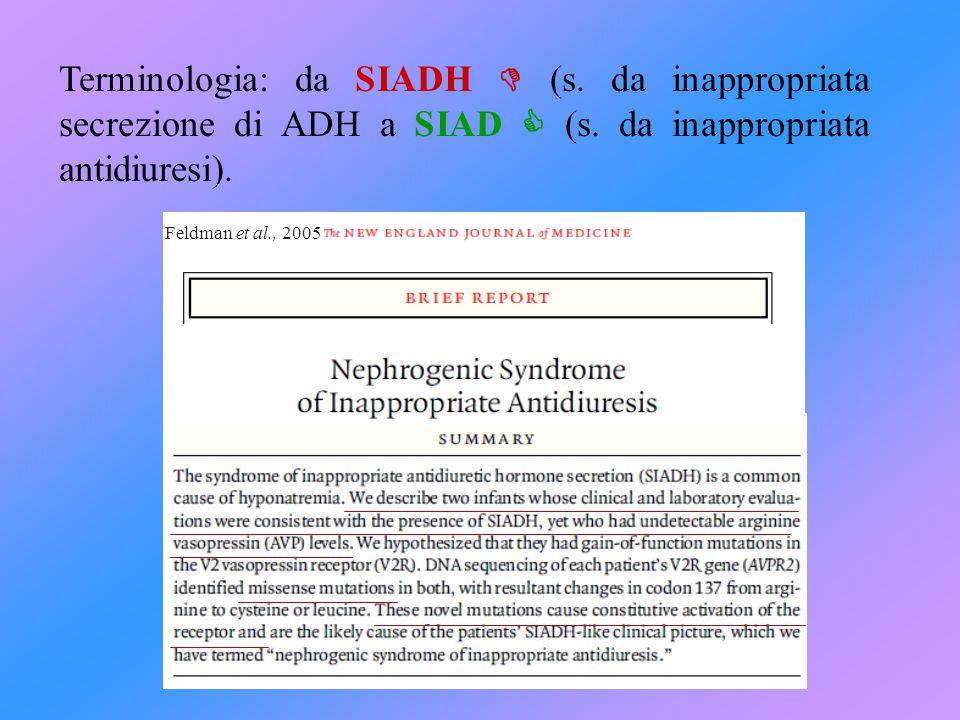 Terminologia: da SIADH  (s