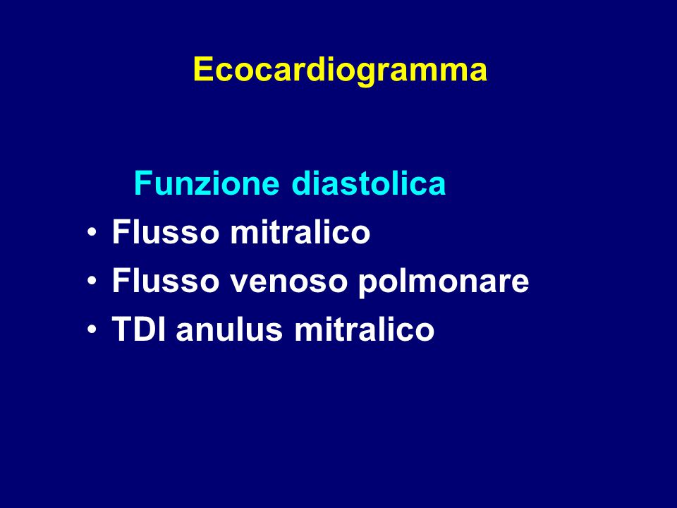 Flusso venoso polmonare TDI anulus mitralico