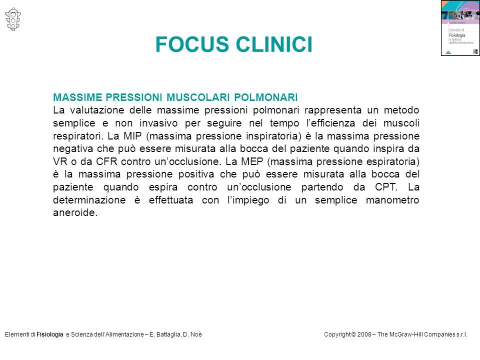 FOCUS CLINICI MASSIME PRESSIONI MUSCOLARI POLMONARI
